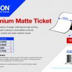 Rouleau d'étiquettes Premium Matte 102mm x 50m pour TM-C3400