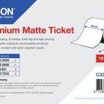 Rouleau d'étiquettes Premium Matte 80mm x 50m pour TM-C3400