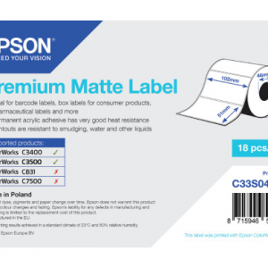 Premium Matte Label - Die-cut Roll