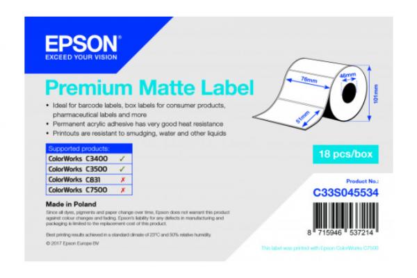 Premium Matte Label - Die-cut Roll - talistore